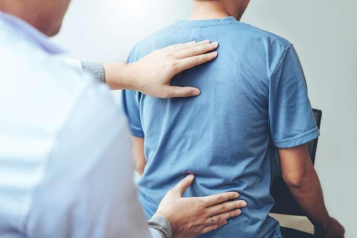Pain back work desk
